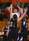 Wheeler's Nickole Finch shoots over Bishop Noll's Elena Sobilo