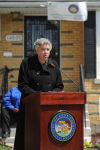 Preckwinkle checks up on county employees who helped to fix up two Riverdale homes