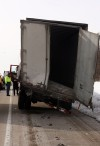 Semitrailers collide on I-65