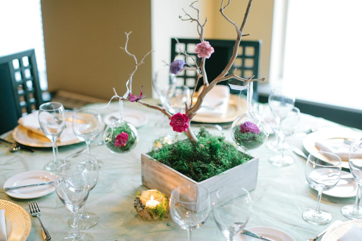 entertaining wedding centerpieces