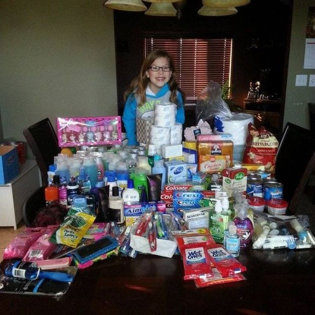 Children ask for food pantry items in lieu of presents