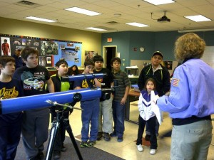 Scouts reach for the stars at Challenger Learning Center