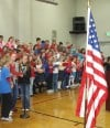 SJE Students honor veterans for service