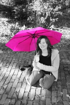 Find your pink umbrella