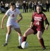 Shepard's Kelly Evanich battles TF United's Callie Barnum