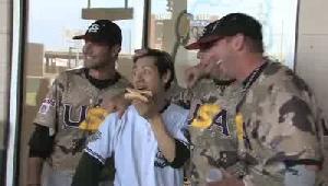 VIDEO: Competitive eater wows RailCats crowd