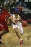 David Stinson of T.F. South drives to the basket