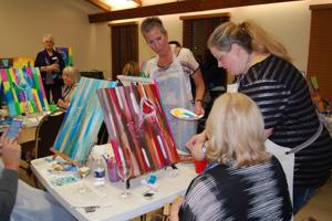Wine and Canvas fundraiser benefits Alzheimer's and Dementia Services