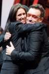 Kisses, hugs for Julie Taymor as 'Spider-Man' opens