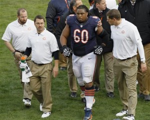 Bears place G Lance Louis on IR with knee injury
