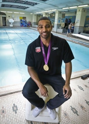 Swimmer Cullen Jones on the road for water safety