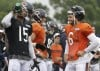 Jay Cutler, Brandon Marshall chat
