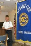 Portage Exchange Club welcomes VFW Commander Rex Lewis