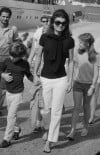 Jackie Kennedy Onassis with her children