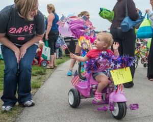 Kids learn to ride safely at Dyer Bike Parade