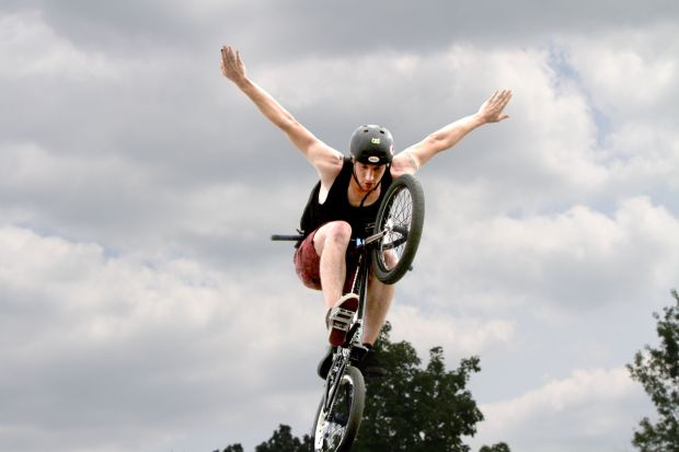 Bruises, bumps and breaks can't stop BMX stunt team