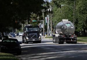 Tanker trucks rumble 24/7 through neighborhood