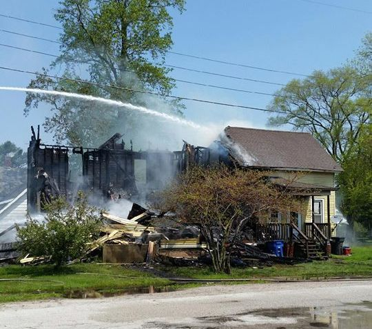 Update house fire disrupts classes at lacrosse high for Laporte county building department