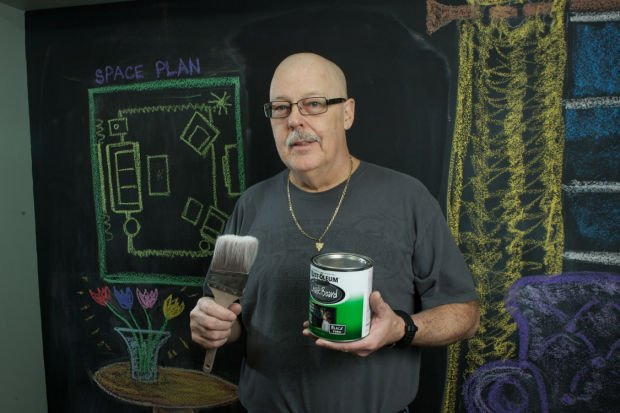 How I got a chalkboard wall