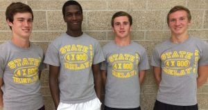 Chesterton's state-champion 3,200 relay heading to national meet