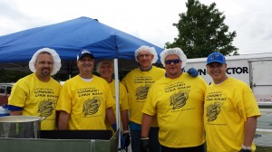 Lake Central School Corporation Employees Volunteer at Corn Roasts