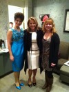 Heather Beck (as Patsy Cline) with Katie Couric and Marketing Director Patty Bird