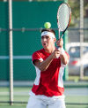 Crown Point No. 1 doubles player Zack Perez