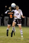 Chesterton's Nicki Kollar and LaPorte's Johnna Belkiewitz