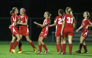 Kankakee Valley girls soccer clinches NCC with win over Lowell