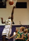 St. Francis player Isis Mance jumps to shoot