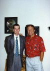 Columnist Philip Potempa and Glen Campbell in 1993