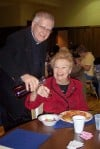 Parishioners treated to feeast day dinner