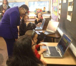 GSA donates laptops to Gary elementary school