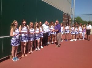 Hobart HS tennis courts receive USTA grant for hitting wall