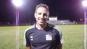 Crown Point soccer coach Mike Bazin