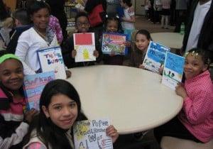 Hammond students share books and meet author, storyteller