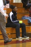 E.C Central's Tiajaney Hawkins is out for the time being. She has her hand in a cast.