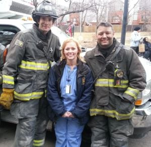 Nurse and firefighter a star on and away from the small screen