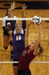 Lowell plays Hobart in Northwest Crossroads Conference volleyball match