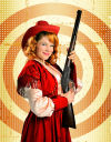 Actress Colette Todd stars as Annie Oakley in 'Annie Get Your Gun'