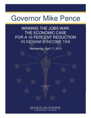 Pence sure income tax cut will create jobs