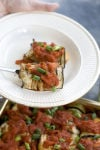 Lighter take on a classic heavy eggplant Parmesan