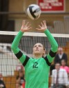 Valparaiso's Dani Suiter sets during Thursday's match at Munster.