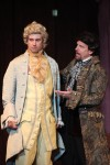 Actors Christopher Daley as Wolfgang Amadeus Mozart (left) and Kevin Theis as Rival Composer Salieri