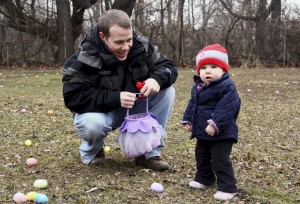 Children gather Easter eggs at Wicker Park event