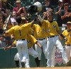 Celebration after Cifeli's home run