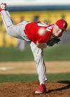 Homewood-Flossmoor starting pitcher Isaac Cutrara throws against Marian Catholic on Friday.