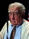 "Actor Ed Asner as President Franklin Delano Roosevelt in the play ""FDR"""