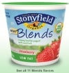 Stonyfield Blends Organic Yogurt Fat Free and Low Fat Varieties