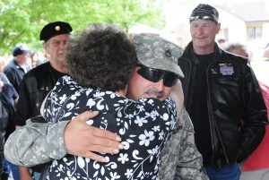 Lansing soldier welcomed home with salute